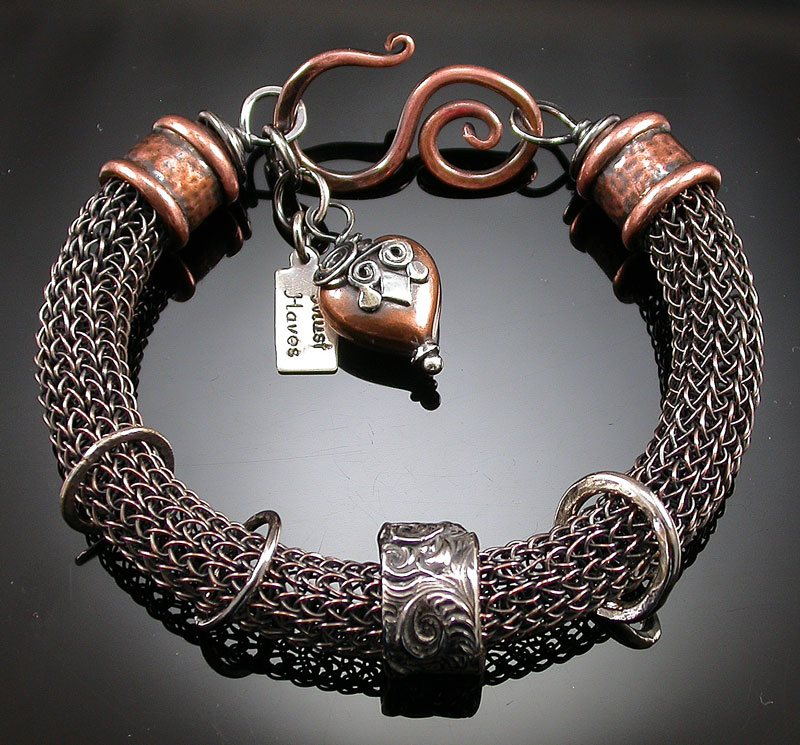 Linda_Inhelder_Copper_Viking_Knit_Bracelet_Photo_by_Artist