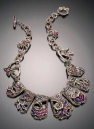 Cindy Silas Floral Concerto Necklace Photo by Robert Diamante 188x258
