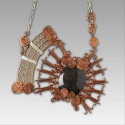 Jara Loewen Copper and German Silver Wire Necklace Photo by Jeff Machtig 258x258