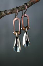 Maggie Joynt Pinned Petal Earrings Photo by Artist 168x258