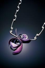 Mandy Allen Purple Iris Necklace Photo by Daniel Van Rossen 172x258